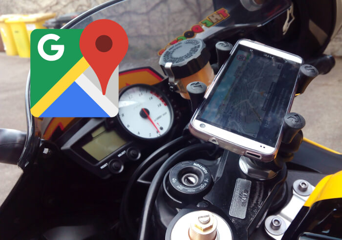 Google Maps para motos