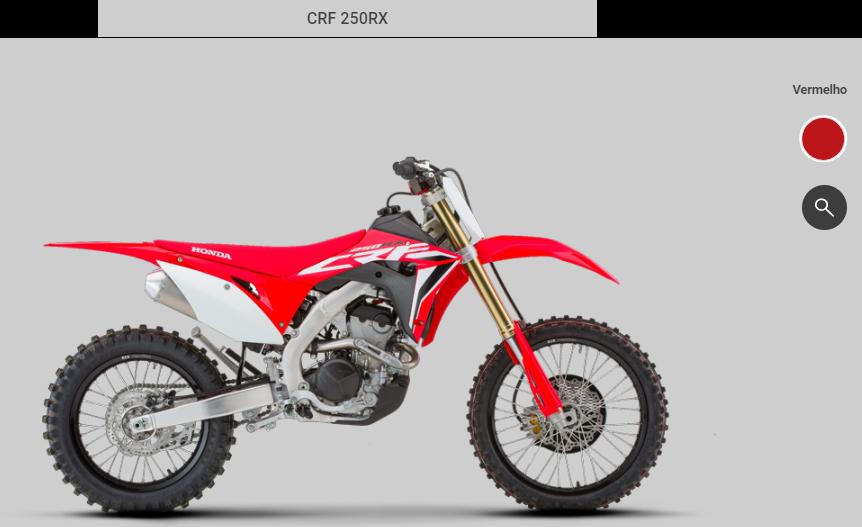 Honda CRF 250RX vermelha